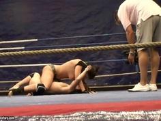 Nude fight club with Eliska Cross and Lisa Sparkle.