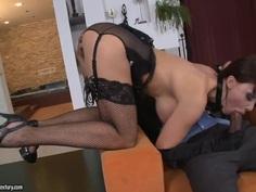 Aletta Ocean having sex with ebony fellow