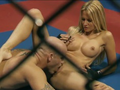 Hot big tit blonde Jessica Drake gets slam fucked at the gym