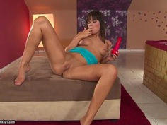 Rosee heats up touching her sensitive nipples and takes her favorite dildo