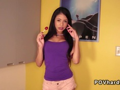Latina teen banging pov brunette squirt