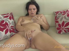 Mature Louise Bassett Plays With Her Coochie