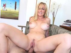 Kayden Kross fucks the cock anal, cowgirl, POV style
