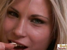 Horny Dirty Blonde Showing Her Cock Pleasing Skills