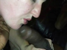 Sucking her First Black Cock
