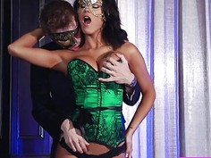 Hot Peta is fucked by a complete stranger while wearing a mask