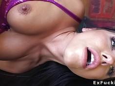 Girlfriend beauty fucks huge dick pov