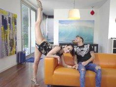 Lucia Nieto demonstrates her hot body to Chris Diamond