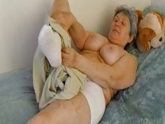 OmaHoteL Extra Hairy Granny Seductive Striptease