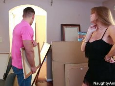 Handsome young artist makes sexy cougar Darla Crane horny
