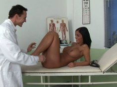Cock voracious nurse Angelika Black is pro in sucking a strong dick
