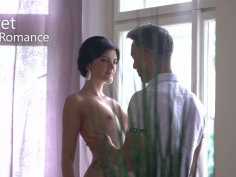 Lubricious brunette Monika Benz gets facial after making love with her boyfriend