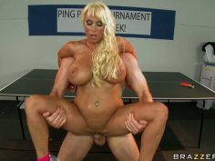Holly Halston gets fucked on the tennis table