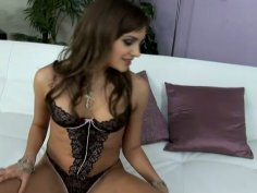 Slutty hoe Nika Blue poses naked in front of the camera