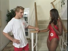 Baywatch slut Skyy Black fornicates with her co-worker