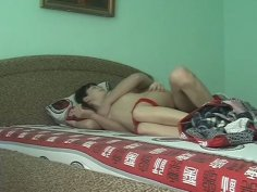 Aroused couple fucking under the blanket