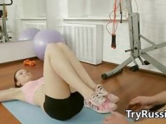 Fit Russian Teen Does Anal