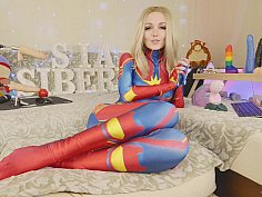 Captain marvel tests new bad dragon toys
