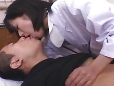 Horny doctor Shinobu gets banged by her patient and facial