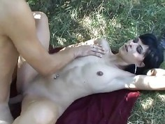 Bawdy babe lastly gets awarded with new cumshots