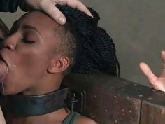 Black Slave Slut is Throat Overloaded