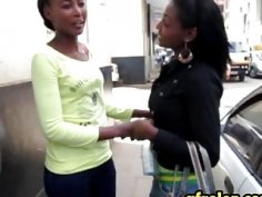 Amateur African lesbos licking cunts in bathroom