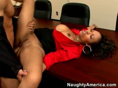 Slutty secretary Lacey Duvalle seduces her strict boss