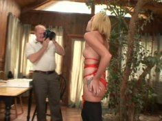 Horny grandpa gets lucky with sexy and slutty blonde Jayden Rose