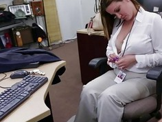 Blonde big tits MILF needs cash and loves getting tits squeeze by horny dude
