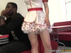 Kristy Snow Enjoys An Interracial Gangbang