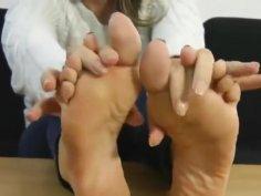 Blonde sexy soles