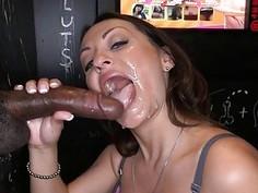 Cutie dazzles a hard wiener with sexy licking