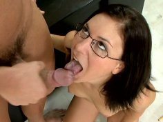 Naughty student Stephanie Richards goes dirty after the class and fucks her teacher