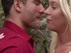 FuckableTS hot blonde Aubrey Kate sucks off tatted stud Vadim Black
