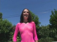 Skinny sexy slut Hailey Young sucking and fucking missionary style on POV vid