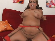 Bbw whore screwed in all of her holes by dick