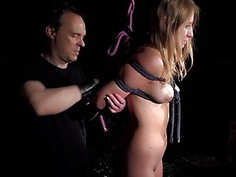 New Girl Slave Ruthless Submission Fuck In Hogtie