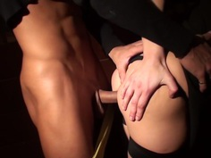Yuki in blonde gets picked up and fucked in a pickup porn