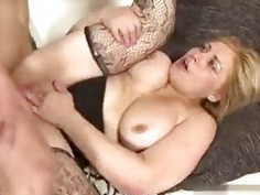Glamour business mature sucking and gets fucked